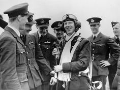 """""""James """"Ginger"""" Lacey (1917-1989) - one of the most successful British fighter pilots of the """"Battle of Britain"""", shot down 18 German aircraft with his Hurricane. During this same time, he was shot down twice himself"""""""