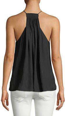 Halterneck Cutback Paisley Print Top Formal Casual Sleeveless Party Shirt