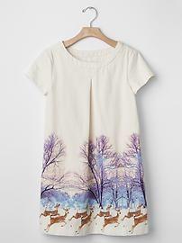 Deer shift dress