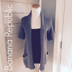 Banana Republic Gray Open Cardigan Worn but in good shape!  Cute over a long sleeve top.  Easy to throw on over leggings or skinny jeans! Banana Republic Sweaters Cardigans
