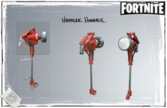 Fortnite - Hydraulic Hammer - Concept Art