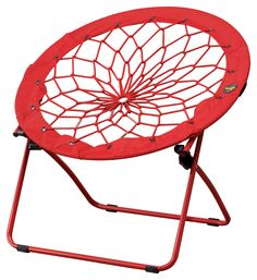 """What is this you ask?  It's a chair!! •Lightweight and portable •Perfect for small spaces •Folds and stores easily •Fun and flexible •Metal tubing construction •Rubber band bungee cord •Nylon covering •32""""W x 27""""D x 32""""H"""
