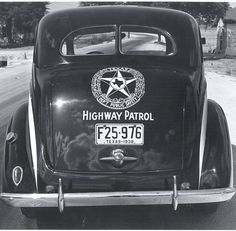 1938 Texas Highway Patrol. Photo courtesy; Norman Rhoades by statetrooperplates.com