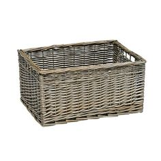Large Antique Wash Storage Basket - The Cotswold Company Large Storage Baskets, House Extensions, Antiques, Flat, Home Decor, Antique, Antiquities, House Additions, Home Interior Design