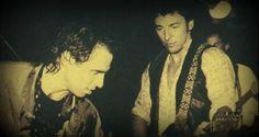 Nils Lofgren and Bruce Springsteen