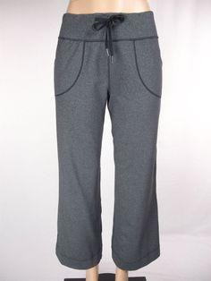 LULULEMON Still Pants Size 8 M Gray Wide Leg #Lululemon #PantsTightsLeggings