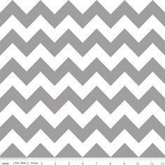 Riley Blake Designs / Chevron / Chevron in Gray