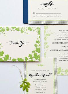 #wedding, #green, #invitation