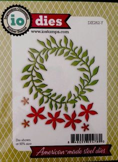 Impression Obsession craft die Spring Wreath flowers leaves #impressionobsession