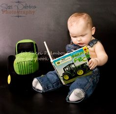 6month pictures #johndeer My Grandpa would LOVE this picture!