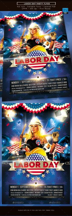 Labor Day #Party #Flyer - Clubs & Parties Events