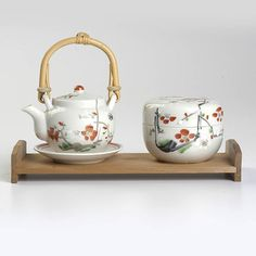 Style and Salvage: Hand-Painted Tea Set With Tray