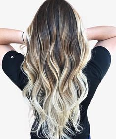 Hair Highlights Platinum Color Trends 61 Trendy Ideas - All For Hair Cutes Best Ombre Hair, Brown Ombre Hair, Ash Blonde Hair, Balayage Hair Blonde, Balayage Highlights, Ombre Hair Color, Bayalage, Cabelo Ombre Hair, Photo Portrait