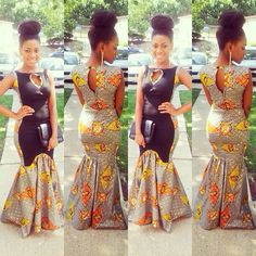 i NEEEEEED this dress. my boyfriend doesn't believe that African garb can be sexy. IT CAN