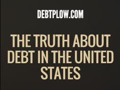 The Truth About Debt in the U.S. [Infographic] An eye opening look on those suffering in debt.