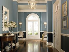 Explore this Plum Foyer for inspiration creating your own Purple Foyer at home with Behr Paint. Lavender Girls Rooms, Teal Girls Rooms, Girls Room Paint, Purple Bedrooms, Blue Rooms, Living Room Paint, Behr Colors, Paint Colors, Wall Colors
