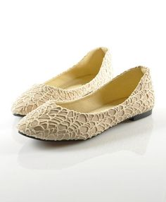 Canvas Round Toe Flat Shoes with Lace Detail 32.30 chicnova.com ~L