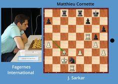 L'exercice tactique du jour : jouez et gagnez comme Matthieu Cornette au tournoi Fagernes International. Solution n°230 :         #chess #échecs