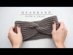 In this post, I will show you how to knit a headband with a twist. The headband is knit in English rib and has a classy twist in the middle (no seam!).