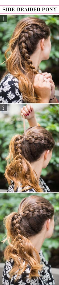 15 Super-Easy Hairstyles for Lazy Girls Who Can't Even We love the side-braided pony! So easy and so chic.