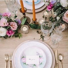 Pretty, pretty, pretty! � Love our White Collection China, with our handpainted salad plates, driftwood chargers, gold flatware, goblets, and brass candlesticks. The perfect romantic table! Styled by @festiveeventplanning florals @emlily_floral photo @_ha