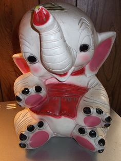 Baby Elephant Piggy Bank by Daja6 on Etsy, $10.00