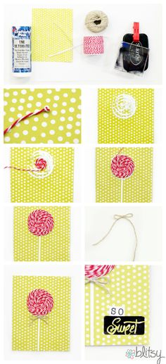 DIY Baker's Twine Popsicle Card Tutorial by Blitsy Crafts