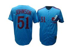 montreal expos 51 randy johnson blue mlb m jersey