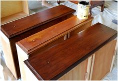 gel stain on drawers