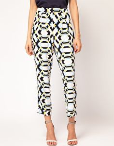 ASOS Loose Trousers in Rocco Print