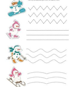 Crafts,Actvities and Worksheets for Preschool,Toddler and Kindergarten.Lots of worksheets and coloring pages. Winter Crafts For Kids, Winter Kids, Winter Sports, Kids Crafts, Tracing Worksheets, Preschool Worksheets, Preschool Writing, Preschool Activities, Sport Craft