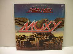 Vintage MOXY- Ridin' High- Hard Rock/ Heavy Metal Vinyl LP- 1977 by Phonogram Records by TimsTimelessToys on Etsy