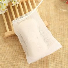 Bathroom Hardware Hot Sale 10pcs Soap Sack Saver Pouch Drawstring Holder Bags For Making Bubbles Drop Shipping Vivid And Great In Style