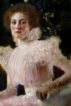 Gustav Klimt - Sonja Knips (detail) by deflam, via Flickr