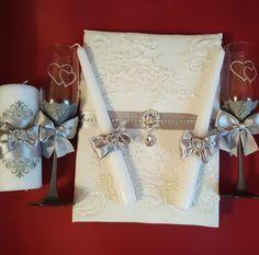 Wedding accessories  Wedding candles, wedding flutes Silver painting  Instagramm: stylishwedding39