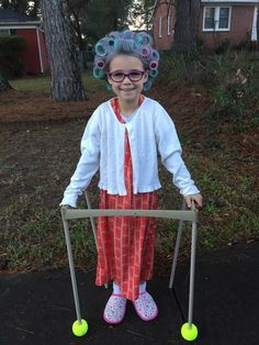 01f08d9be7f Old lady costume for 100th day of school Kids Old Lady Costume