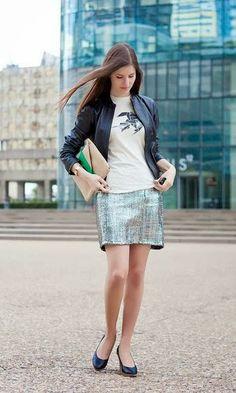 Metalic Skirt - Winter look