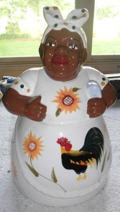 "RARE Black Americana Mammy Cookie Jar Casa Vero Hand Painted RARE 12 5"" X | eBay"