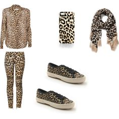 """cheetah print and lepord print"" by jsf2004 on Polyvore"