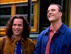 The Sentinel. TV show,1996-'99  L:- Blair Sandburg (Garett Maggart)  R:- Det. Jim Ellison (Richard Burgi)