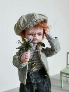 Купить Влюбленный Витька - авторская ручная работа, авторская кукла, подвижная кукла, кукла в подарок