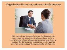Negociación concesiones Teamwork, Tips