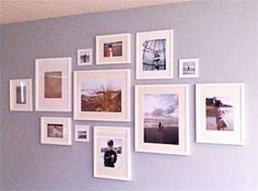 frame collages on walls - Google Search