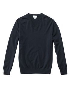 Every Man should have a blue cashmere sweater   V-Neck Cashmere Sweater
