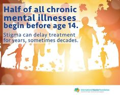 Half of all chronic mental illnesses begin before age 14