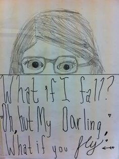 Grade 6 quote inspired half portrait.