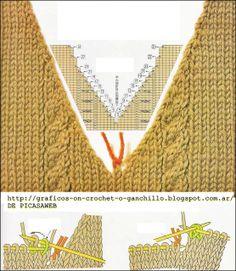 """Photo from album """"Mezgimo pamokos"""" on - knitting Knitting Paterns, Knitting Charts, Knitting Designs, Knit Patterns, Free Knitting, Crochet Stitches, Baby Knitting, Stitch Patterns, Knit Crochet"""