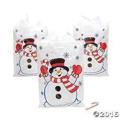 Fun Express Large Christmas Snowman Gift Bags 50 Pieces *** Check out the image by visiting the link. (This is an affiliate link) Christmas Gift Bags, Christmas Gift Wrapping, Christmas Snowman, Christmas Treats, Holiday Treats, Christmas Recipes, Christmas Boxes, Holiday Store, Christmas Store