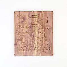 City Map Wood Print