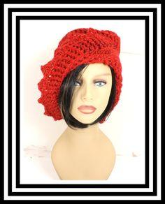 Red Crochet Hat Womens Hat Crochet Beanie Hat Red Sparkle Hat Red Hat African Hat Crochet Winter Hat LAUREN Beanie Hat for Women by strawberrycouture on Etsy  Red Crochet Hat Womens Hat Crochet Beanie Hat Red Sparkle Hat Red Hat African Hat Crochet Winter Hat LAUREN Beanie Hat for Women 40.00 USD by #strawberrycouture on #Etsy  MUST SEE! http://ift.tt/1Lmg3gW (Unique Womens Crochet & Knit Hats Scarves Patterns) Strawberry Couture on Etsy is about having fun with a crochet hook and knitting…
